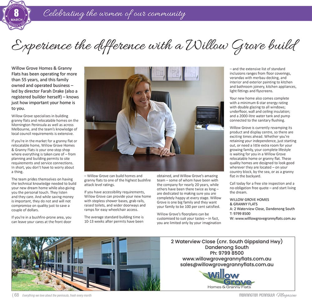 Willow Grove Homes & Granny Flats