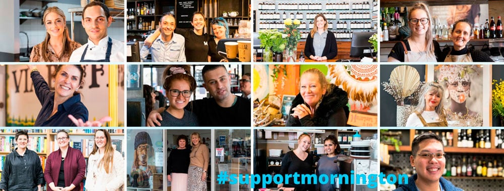 Mornington Main Street collection of businesses and friendly faces.