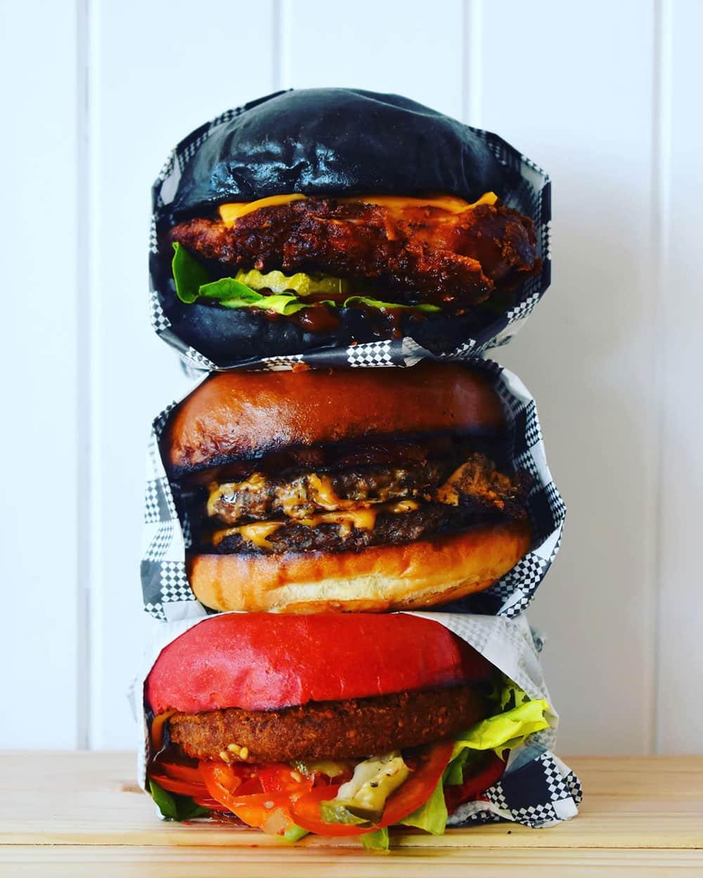 Mr Bentley Rye burgers