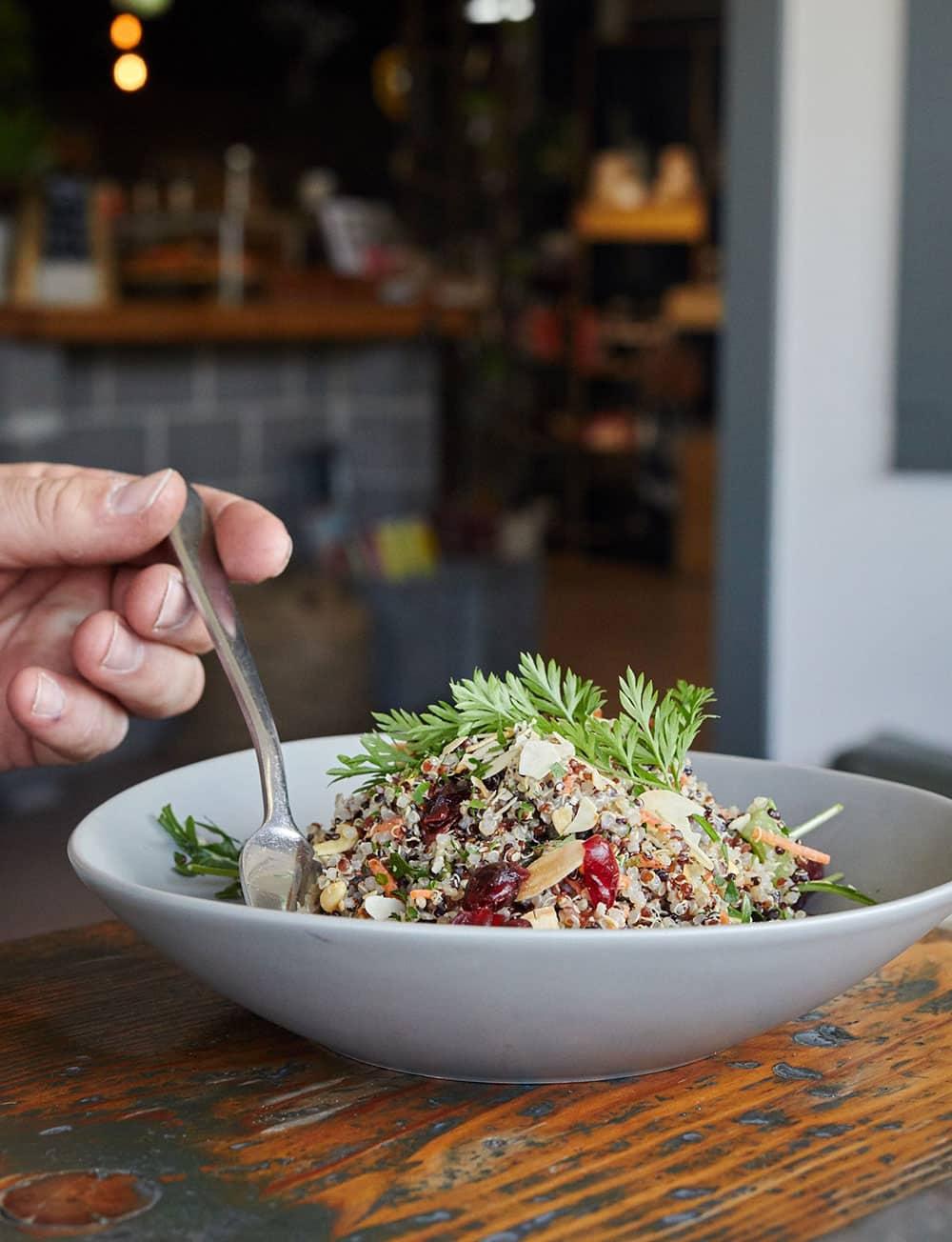 Blue Mini Quinoa Salad