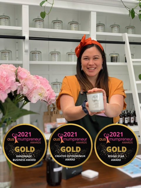 Three awards for candle entrepreneur